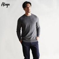 100% Pure кашемировый свитер Для мужчин свитер для повседневной носки рубашка плюс Размеры осень Для мужчин с длинными рукавами и круглым вырез