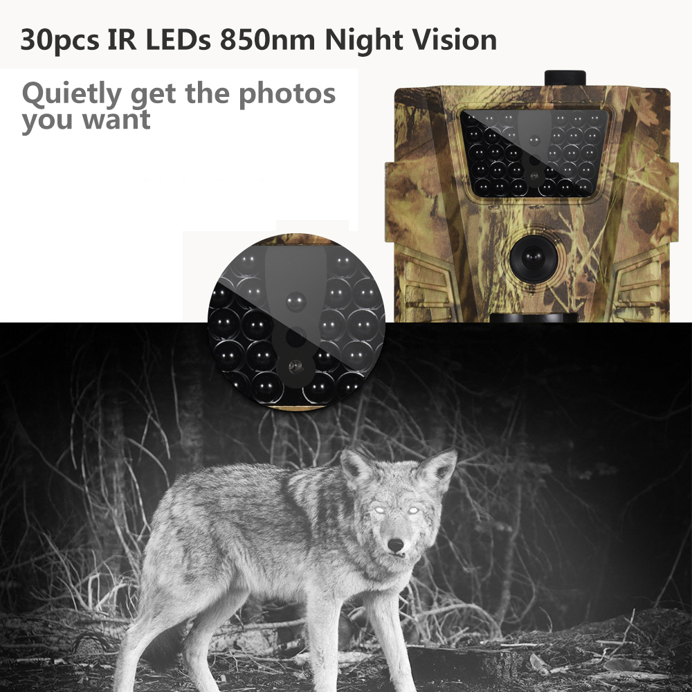 Image 3 - Goujxcy HT 001B Trail Camera 30pcs 850nm Infrared Leds Hunting Camera Scout Waterproof 120 Degree Camera photo traps Wild Camera-in Hunting Cameras from Sports & Entertainment