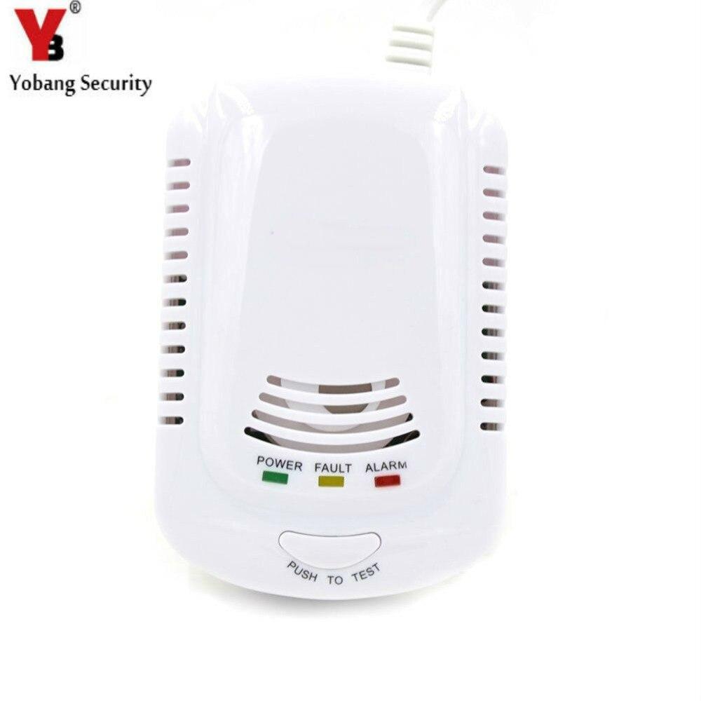 YobangSecurity HighSensitive Indépendant Plug En Combustible Alarme de Fuite De Gaz Naturel Détecteur De Fuite De Gaz Capteur Pour La Maison Cuisine