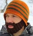 Crochet Beard Hat face Mask Ski Cap Unisex Mustache head Warmer handmade Winter Ski Beanies