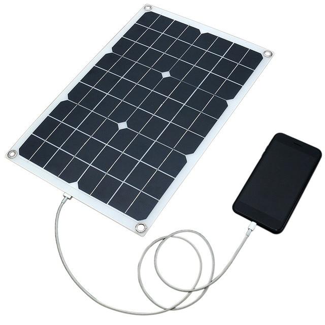 20W 12V 5V DC Waterproof Battery Solar Panel