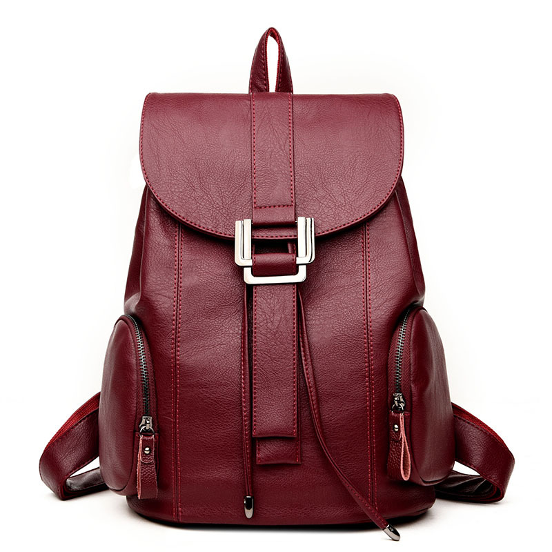 Fashion Women Leather Backpack Female Backpacks School Bags for Teenagers Girls Daily Backpack Travel Shoulder Rucksack Feminina women bag backpacks female genuine leather backpack women school bags for teenagers girls travel bags rucksack mochila femininas