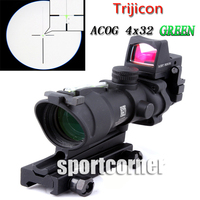 Trijicon ACOG 4x32 Riflescope Green Optical Fiber Works Really Red Dot Rifle Scope EM5161A Free Shipping