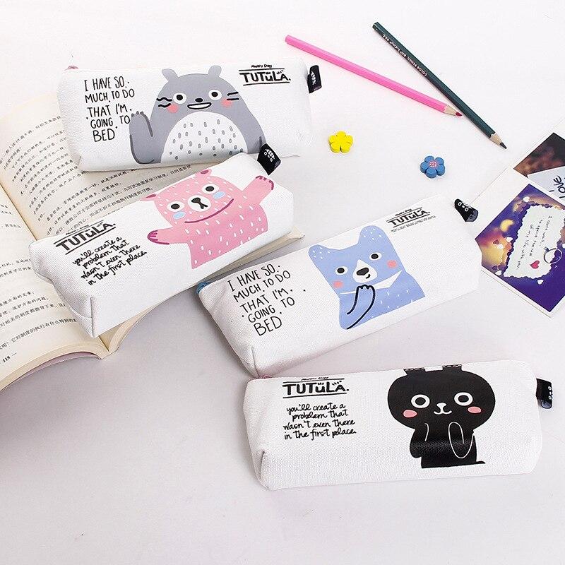 ⃝Niños caja de lápiz de kawaii para niñas niños lienzo bolso del ...