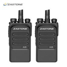 2 قطع 10 كيلومتر راديو المهنية 10 واط اسلكية تخاطب UHF 400 480 ميجا هرتز اتجاهين راديو هام HF الإرسال والاستقبال Comunicador telsiz Zastone A28