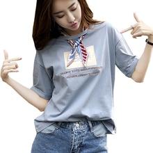 shintimes Office Lady T Shirt Women 2019 Summer Tops Embroidery Letter Korean Fashion Cotton Tshirt Woman Casual T-Shirt Female