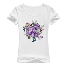 peony flower t shirt women beautiful fashion artwork summer