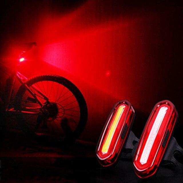LED Rechargeable USB VTT feu arrière feu arrière vtt avertissement de sécurité vélo feu arrière lampe de vélo
