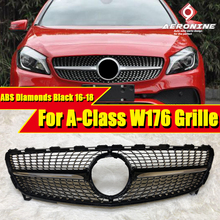 W176 A Class Diamonds Grille grill gloss black A180 A200 A220 A250 A45AMG look Front Bumper Kidney Grills without sign 2016-18