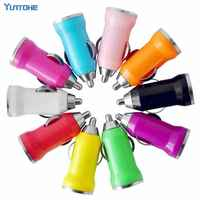 100pcs/lot Colorful Mini USB Car Charger For Apple IPhone 7 6 plus 5S 5 4 for Samsung HTC Sony Nokia LG lenovo Huawei Motorola