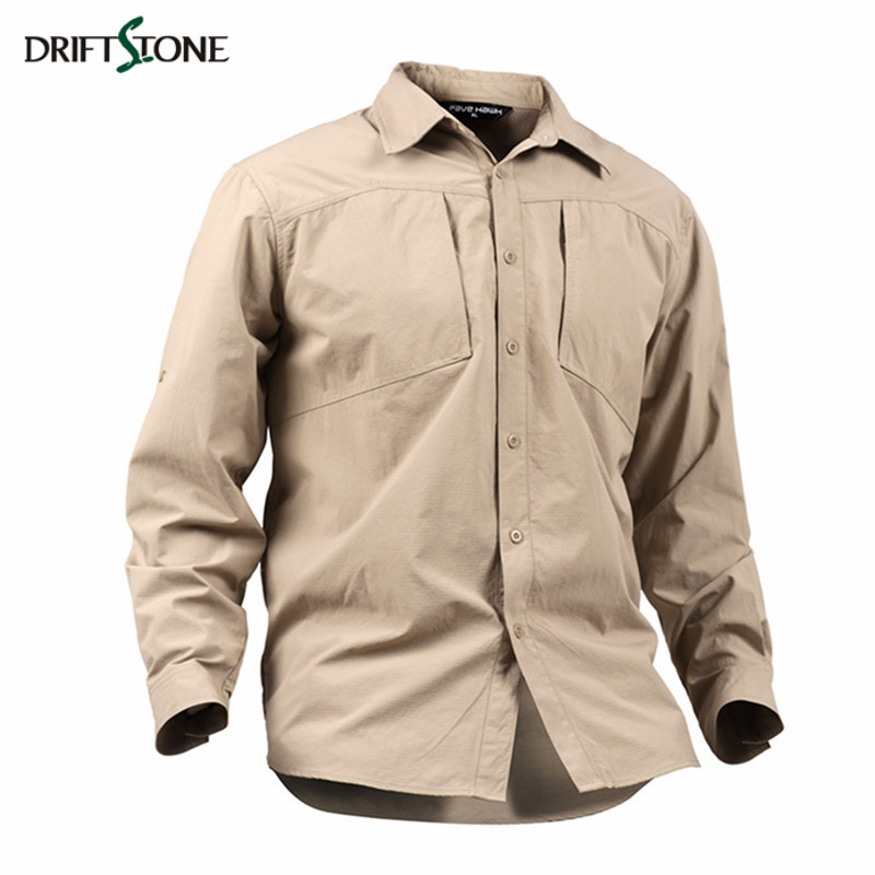 New Military Style Tactical Shirt Men Quick Dry Summer Breathable Long Sleeve SWAT Combat Army Shirts Black Khaki Green Colors men military tactical outdoor shirts 100% cotton breathable long sleeve shirt army multi pockets swat shooting urban sports