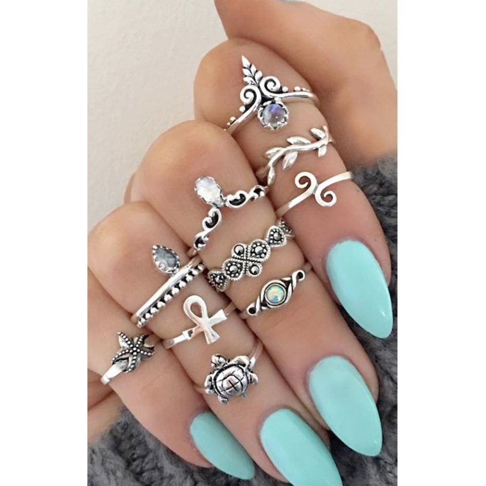 Cute Ring Emanco Bohemian Colorful Silver 925 Crown-Shape Shining Perfect Pour Les Anneaux
