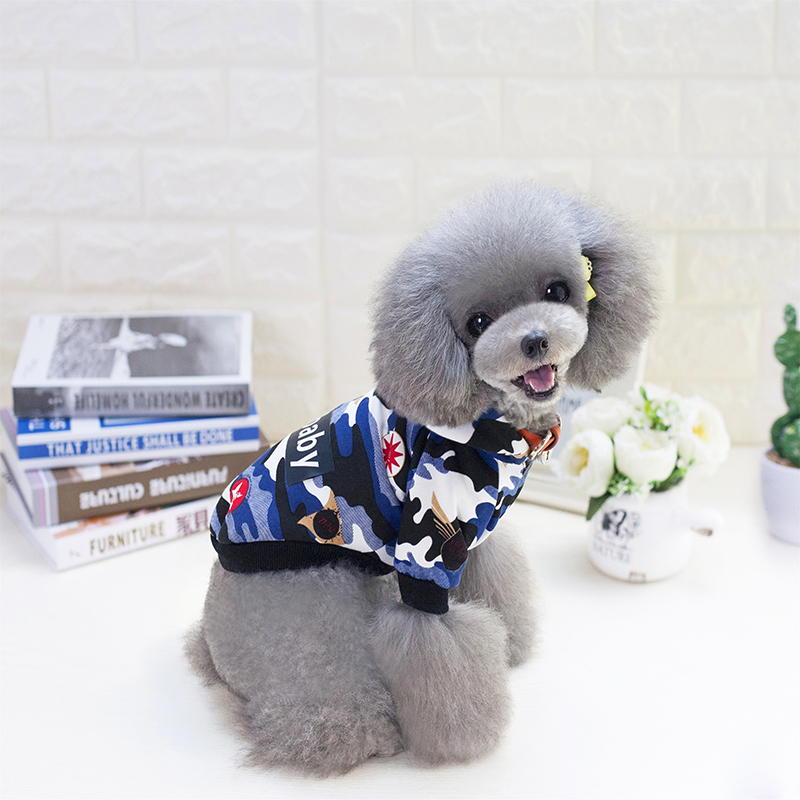 Camouflage Dog Clothes Spring Summer Pets Clothing For Small Dogs Shirts Puppy Outfit Cool Pet Coat