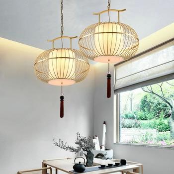 Estilo Chinês Moderno Pingente De Teto Lâmpadas Birdcage Ferro Led Pingente Luzes Da Sala Jantar Loft Pendente Iluminação Pendurado Luz