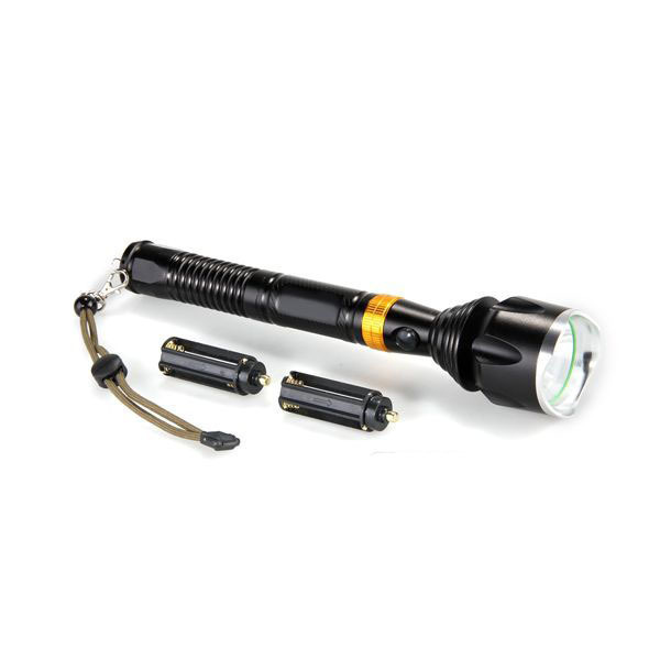 Free shipping CREE T6 LED 1600LM Gold Black Flashlight Lamp Torch 5 Modes Camping Fishing