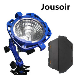 Compact Dimmable 1000W Tungsten Light With UV Protection Glass+ Globe+Barndoor For Studio Video Photography CD15