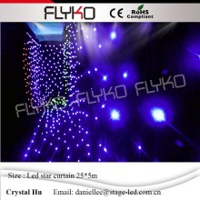 Best suppliers soft SD controller DMX function 5M*25M led star curtain led wedding star cloth with Remote control  цена и фото