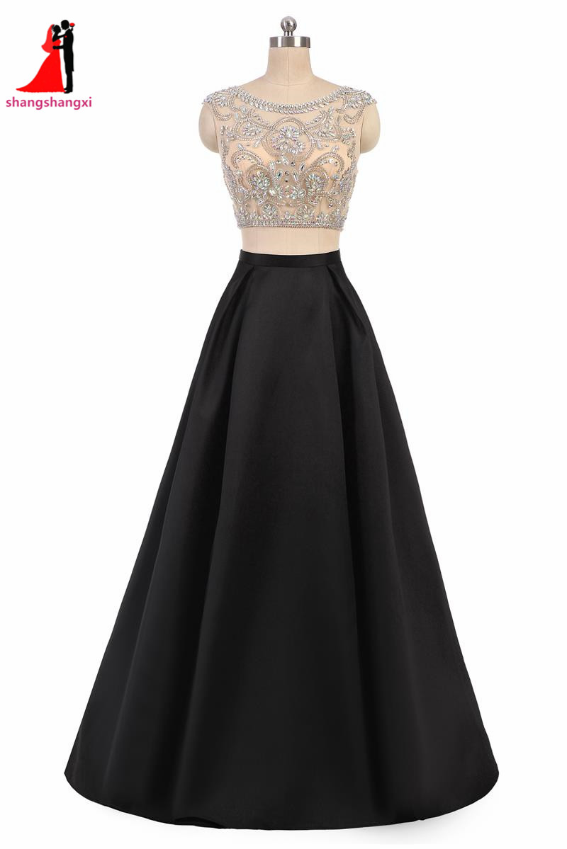Online Get Cheap Long Black Plus Size Prom Dresses With Sleeves