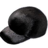 Glaforny Mink mink hats integral skin fur hats mink mink hat men's Baseball Cap Hat peaked cap Knight