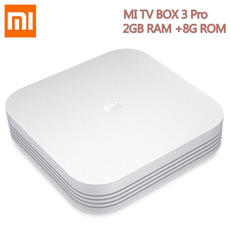 Originale Xiao mi mi tv box 3 Pro versione Migliorata Android 5.1 Wifi bluetooth 4.1 Smart 4 K hd 2 g/8g Dual Core 64bit 4 k Box OTT
