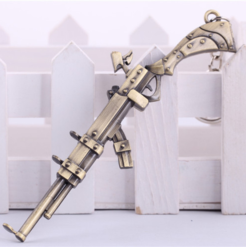 Hot 2016Key Holder Caitlyn Weapon Keychain Fashion Alloy Model Gun Key Ring Fashion Jewelry Chaveiro llaveros