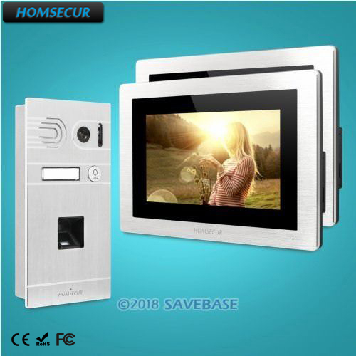 HOMSECUR 7 Wired Video Door Entry Security Intercom Silver Camera for Apartment BC061 S BM714 S