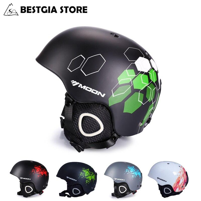 MOON Professional Ski Helmet High Quality Kateboard Ski Snowboard Helmet Women Men Skiing Sports Safty Helmet CE Certification