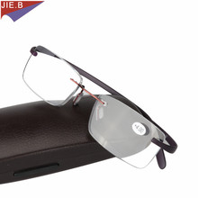 New Super elastic tr90 TR Light unisex Rimless reading glasses man woman presbyopic oculos de leitura
