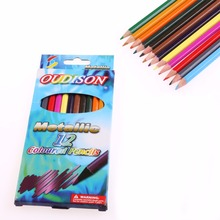 New 12 Colors Pro Metallic Non-toxic Drawing Pencils Sketching Finest