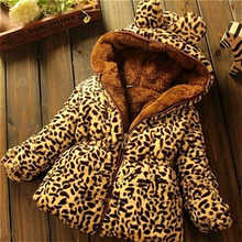 Girl Coat 2018 Winter Fashion Girl's Woolen Jacket Hat Minnie Double Breasted Cartoon Children's Coat 0-3 Year Old Thick Coat.(China)