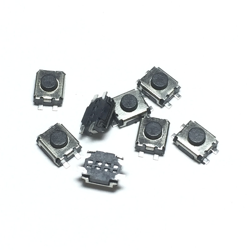 100pcs/lot Micro button tact switch 4 pin SMD Little Turtle 3x4x2MM 3*4*2MM Double spring ip камера orient ip 950 sh24apsd aux с записью на microsd