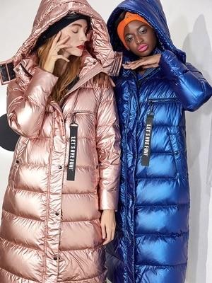 2018 new winter jacket women down jackets outerwear women's fashion brand thickened down coats womens Rainbow long overcoat.