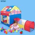 Chegada nova TAMANHO GRANDE tenda casa grande onda interior princesa das Crianças das crianças infantis do bebê brinquedo piscina de bolinhas marinha casa de jogo