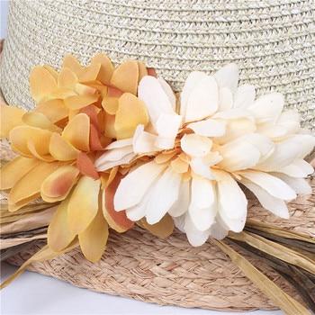 Good quality Summer hat women straw cap Ladies Big brim Sun hat 1