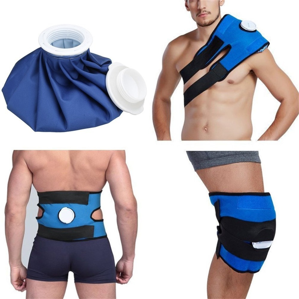 M Size Reusable Health Care Knee Head Leg Muscle Sport Injury Relief Pain Ice Bag Non-Toxic Ice Pack With Bandage For Emergency