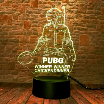 Playerunknown's Battlegrounds PUBG Merchandise Battle Royale PUBG Game Figure 3D Nightlight Visual Illusion LED 7 Colors Changing Light Desk Lamp Light-up Toys 1