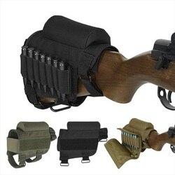 Portable Adjustable Taktis Butt Saham Senapan Pipi Istirahat Kantong Peluru Pemegang Tas Lainnya dengan Amunisi Carrier Kasus