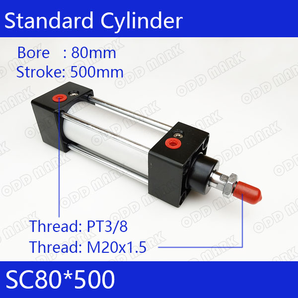 SC80*500 Free shipping Standard air cylinders valve 80mm bore 500mm stroke SC80-500 single rod double acting pneumatic cylinder sc80 500 free shipping standard air cylinders valve 80mm bore 500mm stroke sc80 500 single rod double acting pneumatic cylinder