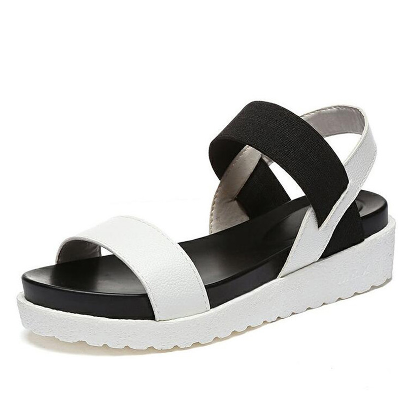 Ladies Sandals Hot Summer Fashion Sweet Lady Flat Shoes With Fashion Wear Non-Slip Sandals Ladies Shoes (Fast delivery)