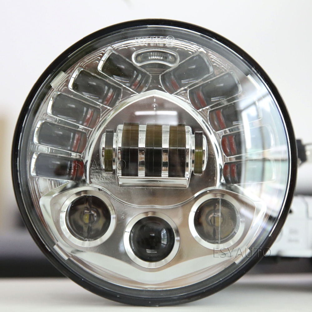 5.75 inch 70W Led Headlight High Low Beam Motorcycles for Harley Davidsion  Motorcycles Black&Chormel headlamp hot sale.