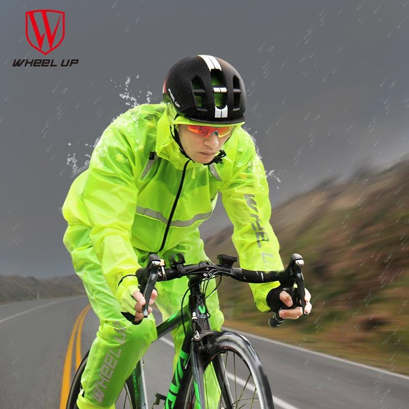 Reflective Breathable Waterproof Bike Raincoat Jacket&pants Bicycle Cycling Sets Anti-Sweat Rain Jersey Clothing Rain Coat Sets benkia motorcycle rain coat hooded raincoat two piece raincoat suit riding rain gear motorcycle bicycle rain jacket and pants