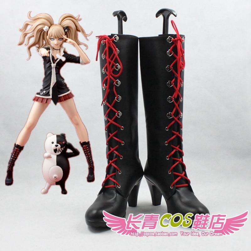 Danganronpa Trigger Happy Havoc Enoshima Junko cosplay Shoes Boots Custom Made 7272