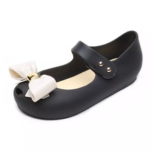 Melissa 2019 Girls Sandals Bowtie Children Shoes Jelly Shoes Soft  Bottom Girls Princess Shoes Girls Baby Melissa Girl Sandals melissa j morgan golden girls 16