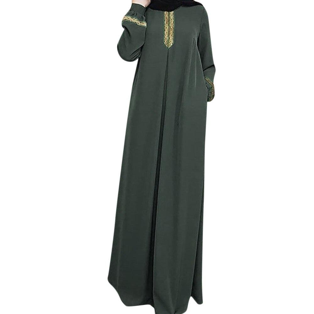 404d8c4d29 Free Ostrich Ladies Dress Muslim Women Islamic Stripe Print Plus Size  Middle East Long Dress Fashion Temperament Dress N30