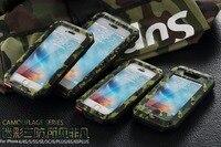 יוקרה R-JUST שריון נגד לדפוק Coque מקרי כיסוי טלפון אלומיניום מתכת הסוואה 5S iphone 8X7 SE 4S 5 5C 6 6 S בתוספת זכוכית