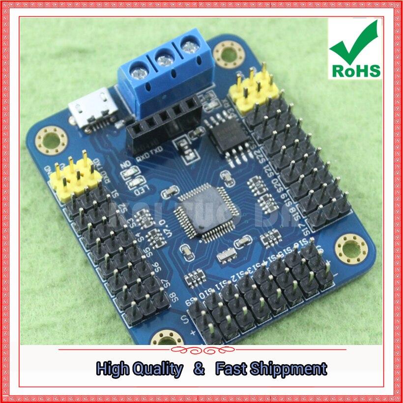 mini USB 24-way channel steering gear controller steering gear control board servo drive USC-24 (C2B3 with line