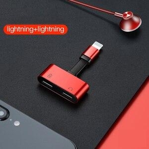 Image 3 - Suntaiho aydınlatma adaptörü kulaklık adaptörü 2 in 1 için iPhone 7 8 artı X şarj Splitter adaptörü için aydınlatma çift 8pin