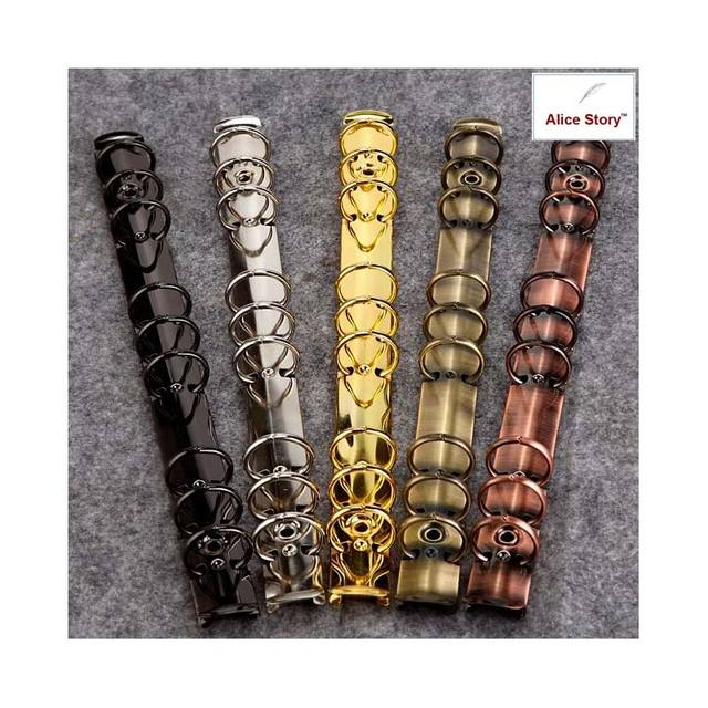 Colorful metal spiral binder clip  stainless steel A5 A6 binder file folder clip ring binder clip iron clip
