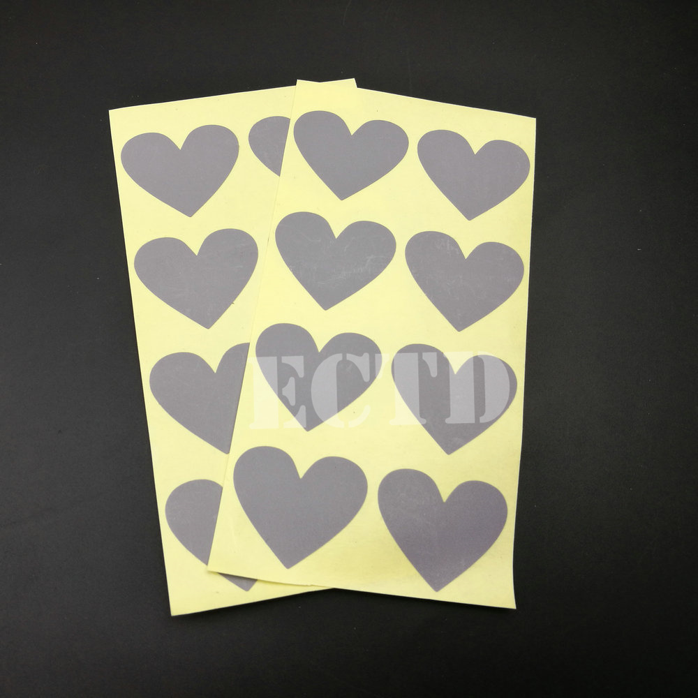 150Pcs Heart SCRATCH OFF Stickers Labels Games Tickets Favors Gold 30x35mm