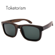 Toketorism 2017 new fashion wood zonnebril polarized women shades wooden oculos masculino de sol 0403